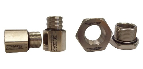 Npt to metric thread adapters nickel plated brass