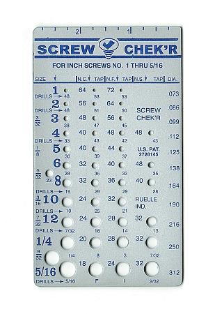 Inch Screw Checker Instant Identification Of 1 5 16