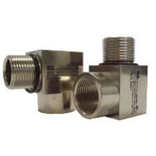 "1/2"" NPT Male to Female 90 Degree Elbow: Nickel Plated Brass (ATEX)"