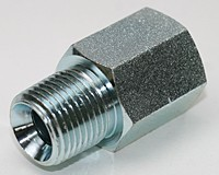 "3/8"" NPT to 1/2"" BSPP (G) Thread Adapter: Zinc Plated Steel"