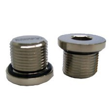 M75 Stopping Plug: Nickel Plated Brass, Dome Head, Exd/Exe