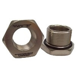 1-11.5 NPT (male) to M20 x 1.5 (female) Thread Reducer: Nickel Plated Brass