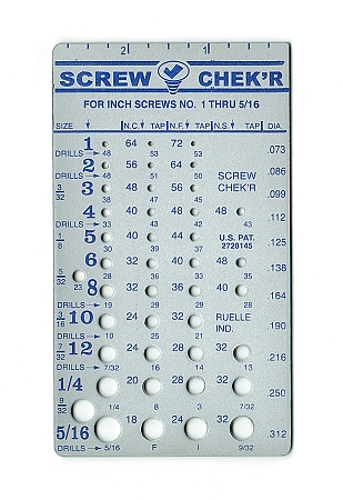 Inch Screw Checker Instant Identification Of 1 5 16