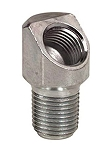 Grease Fitting Adapter: 1/8-27 PTF (m) x 1/8-27 NPTF (f), 45° Elbow
