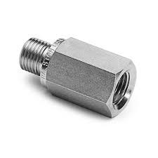 M12 x 1.75 (male) to 3/8-16 (female) Thread Adapter: 18-8 Stainless Steel