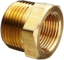 "1/2"" NPTF (male) to 3/8"" NPTF (female) Thread Reducer: Brass"