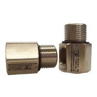 1/2-14 NPT (male) to M20 x 1.5 (female) Thread Adapter: Nickel Plated Brass