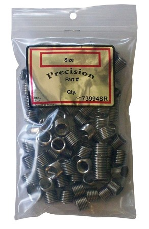 "Helical Thread Inserts: 7/16-20, 0.875"" (2.0xD) Length, Free Running, Package of 50"