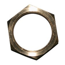 "1/2"" NPT Locknut: Nickel Plated Brass"
