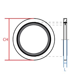 "1/2"" BSPP (G) Bonded Sealing Washer"