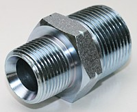 "3/8"" to 3/8"" NPT Male Hex Nipple: 316 Stainless Steel"