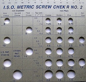 Metric Screw Checker - Large