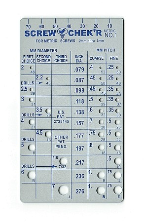 Metric Screw Checker - Small
