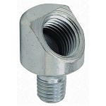 Grease Fitting Adapter: 1/4-28 SAE-LT (m) x 1/8-27 NPTF (f), 45° Elbow