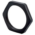 M12 x 1.5 Locknut: Black Nylon